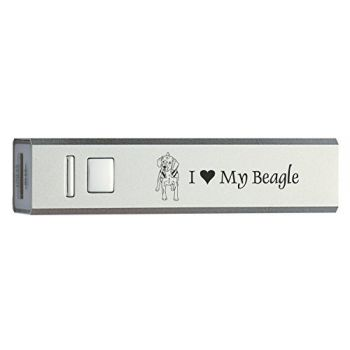 Quick Charge Portable Power Bank 2600 mAh  - I Love My Beagle