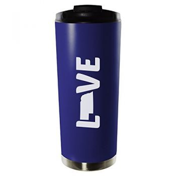 16 oz Vacuum Insulated Tumbler with Lid - Nebraska Love - Nebraska Love