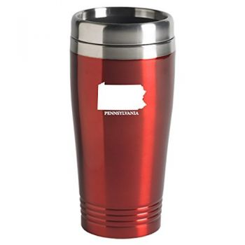 16 oz Stainless Steel Insulated Tumbler - Pennsylvania State Outline - Pennsylvania State Outline