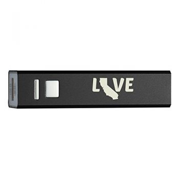 California-State Outline-Love-Portable 2600 mAh Cell Phone Charger-