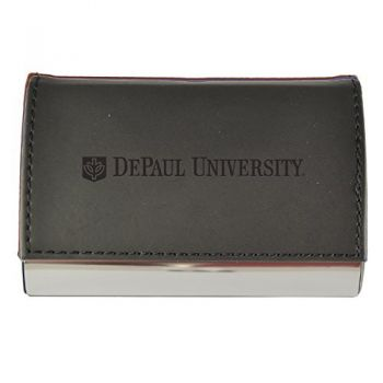 Velour Business Cardholder-DePaul University-Black