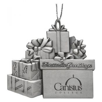 Canisius College - Pewter Gift Package Ornament