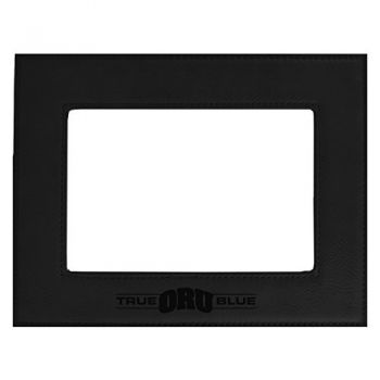 Oral Roberts University-Velour Picture Frame 4x6-Black