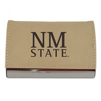 Velour Business Cardholder-New Mexico State-Tan