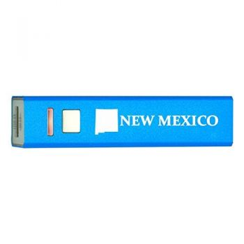 New Mexico-State Outline-Portable 2600 mAh Cell Phone Charger-