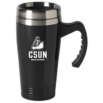 California State University, Northridge-16 oz. Stainless Steel Mug-Black