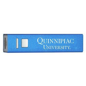 Quinnipiac University - Portable Cell Phone 2600 mAh Power Bank Charger - Blue
