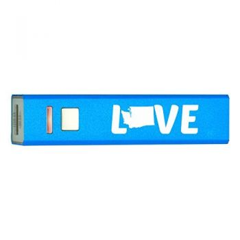 Washington-State Outline-Love-Portable 2600 mAh Cell Phone Charger-