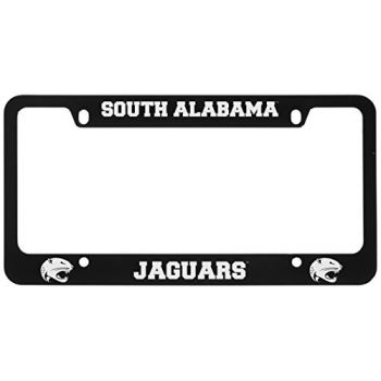 University of South Alabama -Metal License Plate Frame-Black