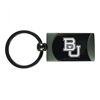 Baylor University -Two-Toned Gun Metal Key Tag-Gunmetal