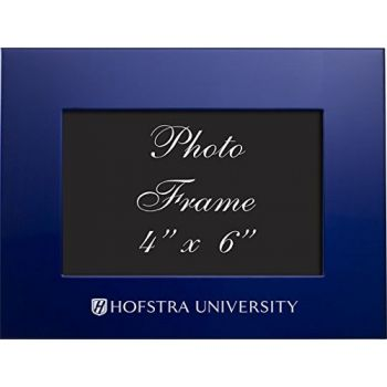 Hofstra University - 4x6 Brushed Metal Picture Frame - Blue