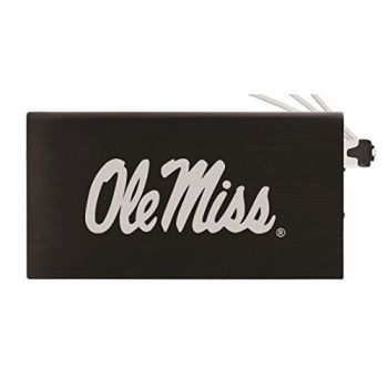 8000 mAh Portable Cell Phone Charger-University of Mississippi -Black