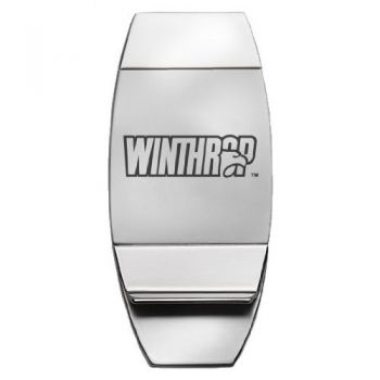 Winthrop University - Two-Toned Money Clip - Silver