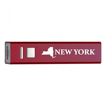 New York-State Outline-Portable 2600 mAh Cell Phone Charger-