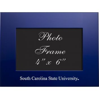 South Carolina State University - 4x6 Brushed Metal Picture Frame - Blue