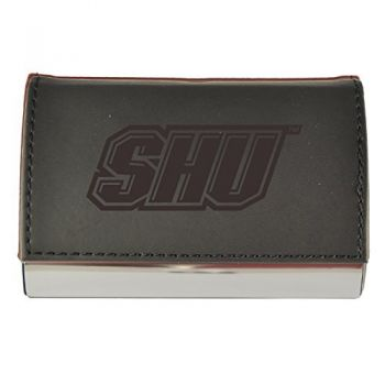 Velour Business Cardholder-Sacred Heart University-Black