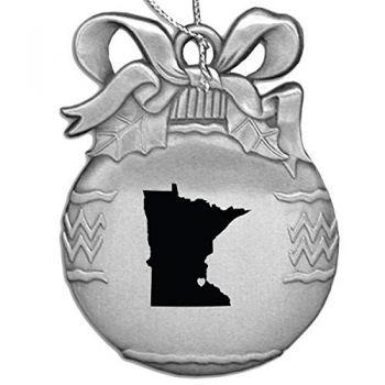 Pewter Christmas Bulb Ornament - I Heart Minnesota - I Heart Minnesota