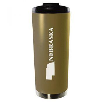 16 oz Vacuum Insulated Tumbler with Lid - Nebraska State Outline - Nebraska State Outline
