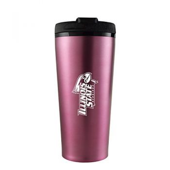 Illinois State University-16 oz. Travel Mug Tumbler-Pink