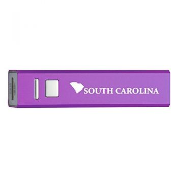 South Carolina-State Outline-Portable 2600 mAh Cell Phone Charger-