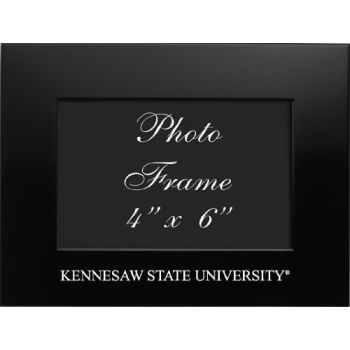 Kennesaw State University - 4x6 Brushed Metal Picture Frame - Black