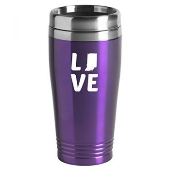 16 oz Stainless Steel Insulated Tumbler - Indiana Love - Indiana Love