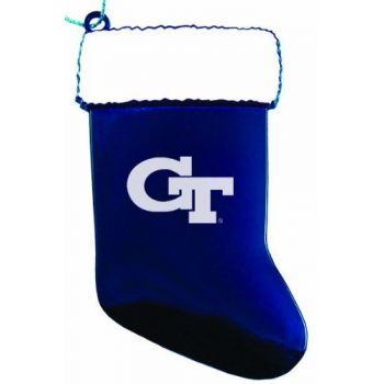 Georgia Institute of Technology - Christmas Holiday Stocking Ornament - Blue