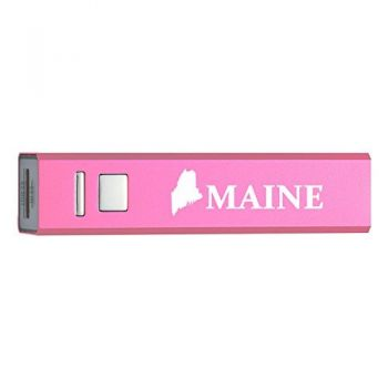 Maine-State Outline-Portable 2600 mAh Cell Phone Charger-