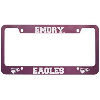 Emory University-Metal License Plate Frame-Pink