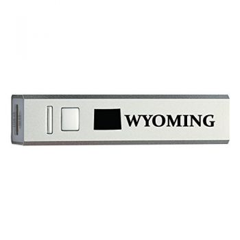 Wyoming-State Outline-Portable 2600 mAh Cell Phone Charger-
