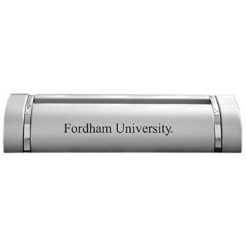 Fordham University-Desk Business Card Holder -Silver