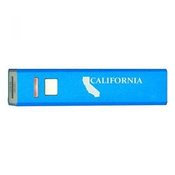California-State Outline-Portable 2600 mAh Cell Phone Charger-