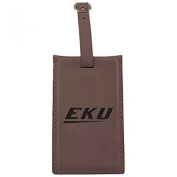 Eastern Kentucky University -Leatherette Luggage Tag-Brown