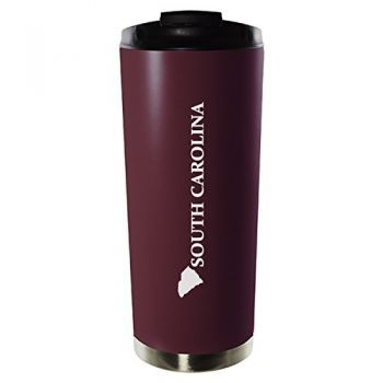 16 oz Vacuum Insulated Tumbler with Lid - South Carolina State Outline - South Carolina State Outline