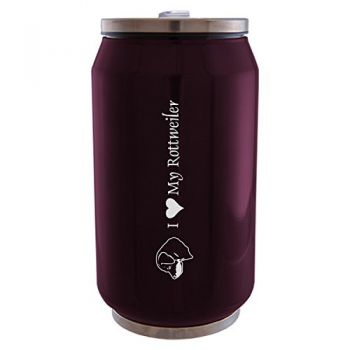 12 oz Can Shaped Stainless Steel Tumbler  - I Love My Rottweiler