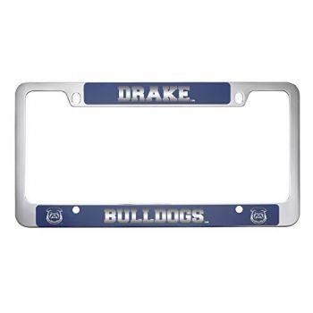 Drake University-Metal License Plate Frame-Blue