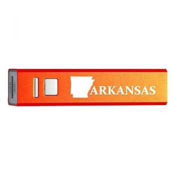 Arkansas-State Outline-Portable 2600 mAh Cell Phone Charger-