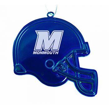Monmouth University - Christmas Holiday Football Helmet Ornament - Blue