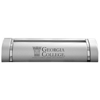 Georgia College & State University-Desk Business Card Holder -Silver
