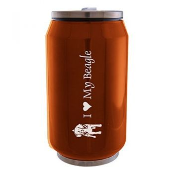 12 oz Can Shaped Stainless Steel Tumbler  - I Love My Beagle