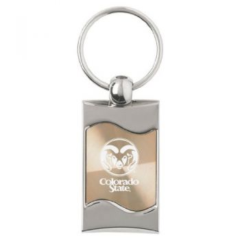 Colorado State University - Wave Key Tag - Gold