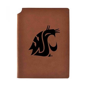 Washington State University Velour Journal with Pen Holder|Carbon Etched|Officially Licensed Collegiate Journal|