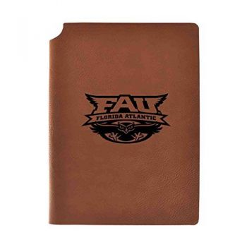 Florida Atlantic University Velour Journal with Pen Holder|Carbon Etched|Officially Licensed Collegiate Journal|