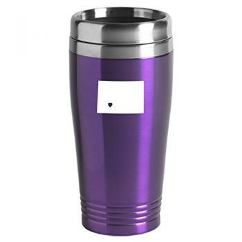 16 oz Stainless Steel Insulated Tumbler - I Heart North Dakota - I Heart North Dakota