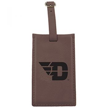 University of Dayton -Leatherette Luggage Tag-Brown