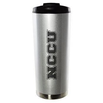North Carolina Central University-16oz. Stainless Steel Vacuum Insulated Travel Mug Tumbler-Silver