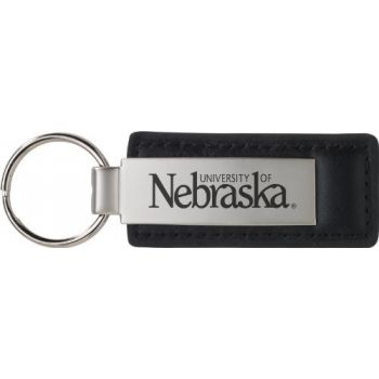 University of Nebraska??Lincoln - Leather and Metal Keychain - Black