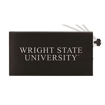 8000 mAh Portable Cell Phone Charger-Wright State university -Black