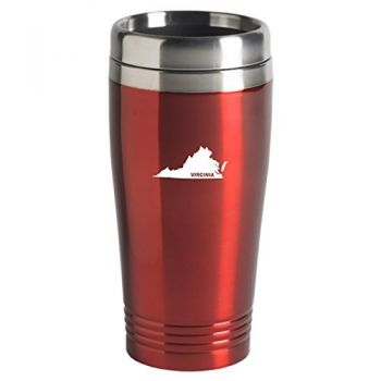 16 oz Stainless Steel Insulated Tumbler - Virginia State Outline - Virginia State Outline
