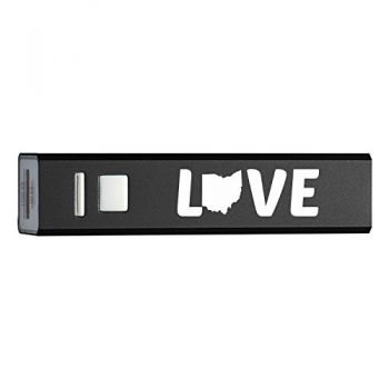 Ohio-State Outline-Love-Portable 2600 mAh Cell Phone Charger-